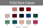 Wild Rice Color Chart